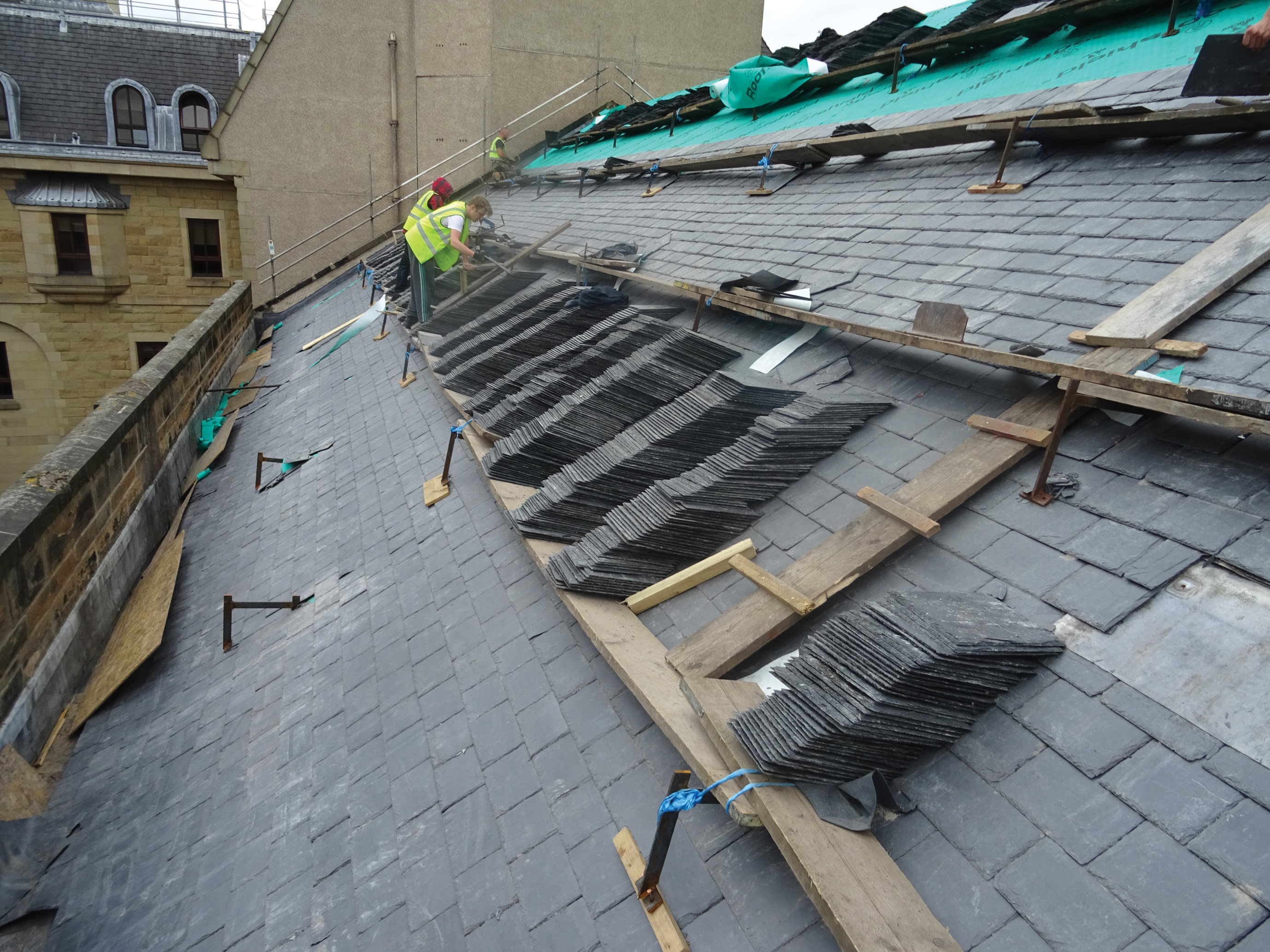 Slate to match sig roofing for Slate roof covering